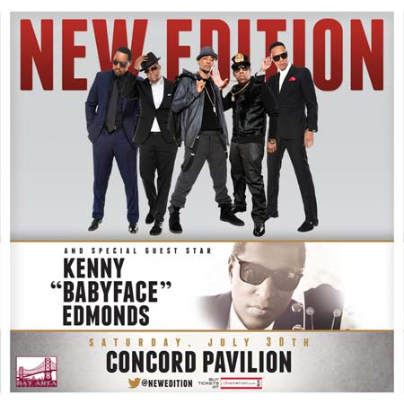 "New Edition and special guest star, Kenny ""BabyFace"" Edmonds"