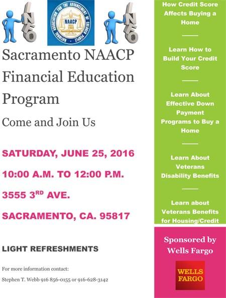 Sacramento NAACP Financial Education Program