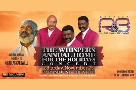 DON'T MISS The Whispers Annual Home for the Holidays Concert