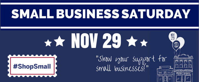 Small Business Saturday is November 29, 2014