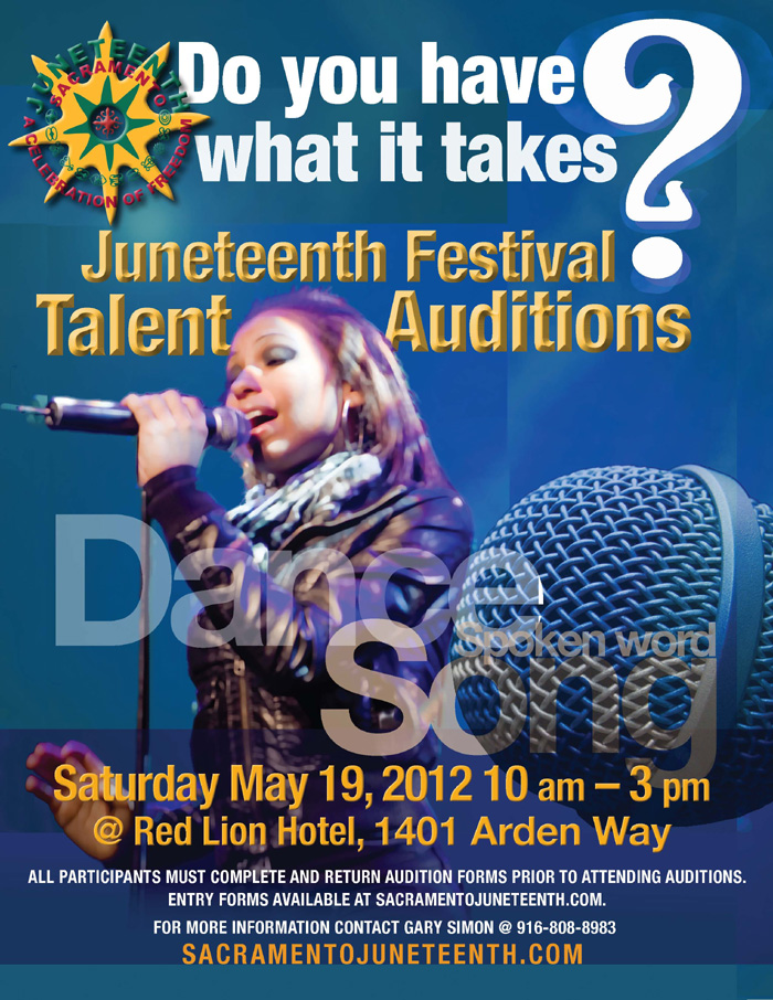 Auditions - Juneteenth Festival 2012