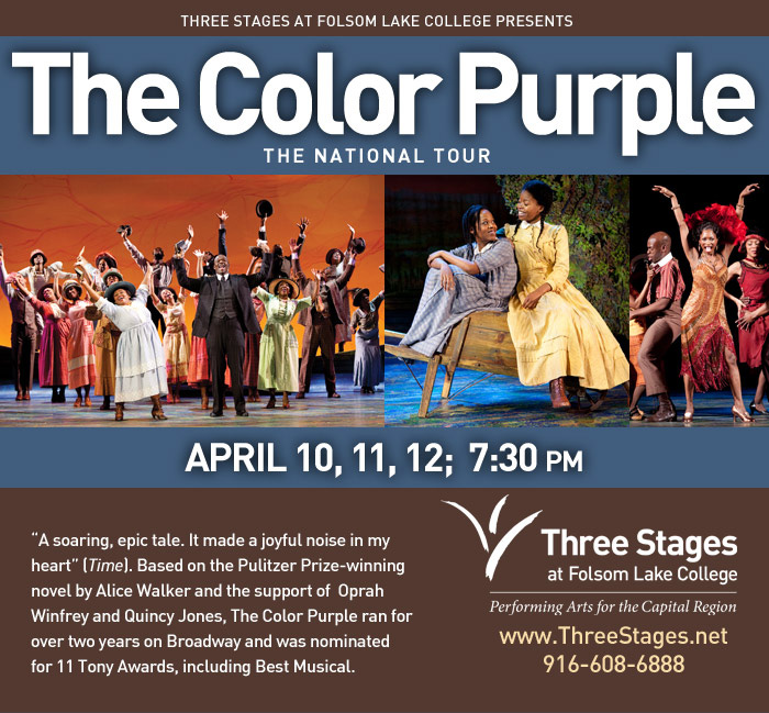 the color purple at folsom lake college