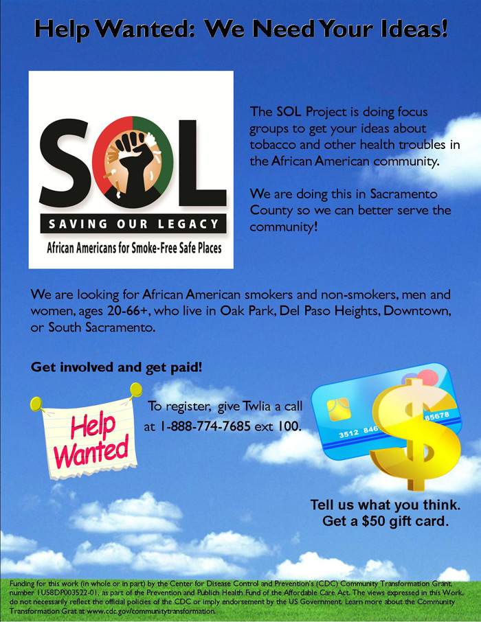 The Sol Project - Help Wanted - Get paid for what you think