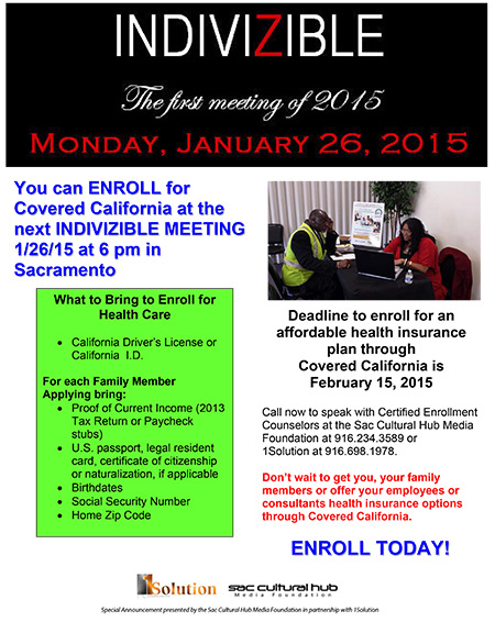 Enrollment Opportunities at the Indivizible Meeting