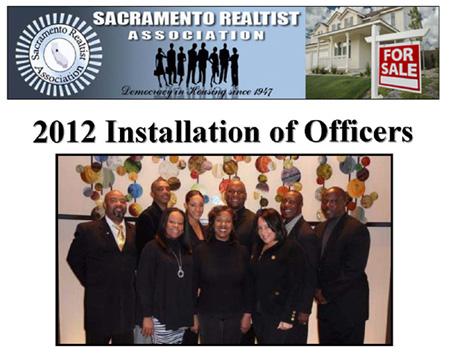 Sacramento Realtist Association's 2012 Installation of Officers