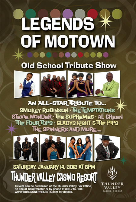Legends of Motown at Thunder Valley