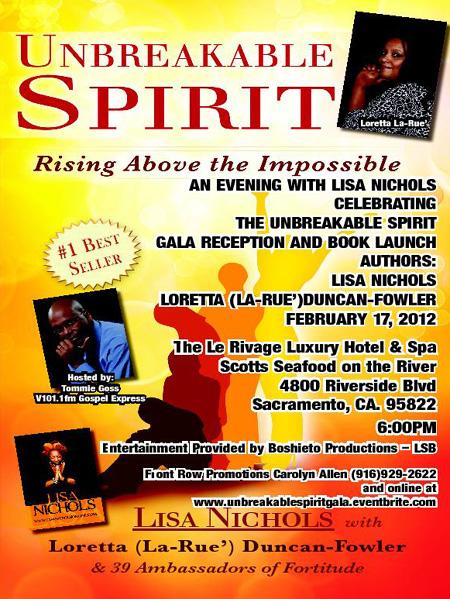 Book Launch of Unbreakable Spirit