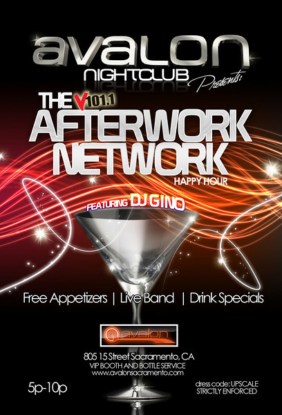 The V101.1 Afterwork Network Happy Hour on Wednesdays