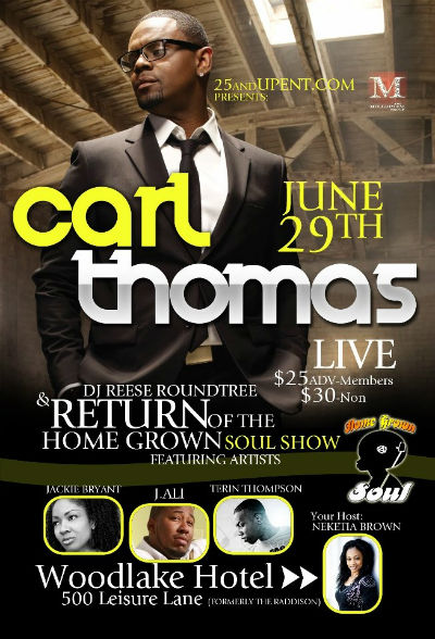 Carl Thomas live at the Home Grown Soul Show June 29