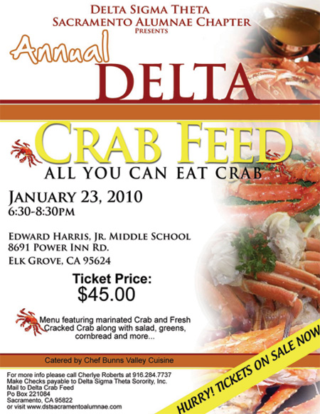 """Delta Crab Feed """"ALL YOU CAN EAT CRAB"""""""