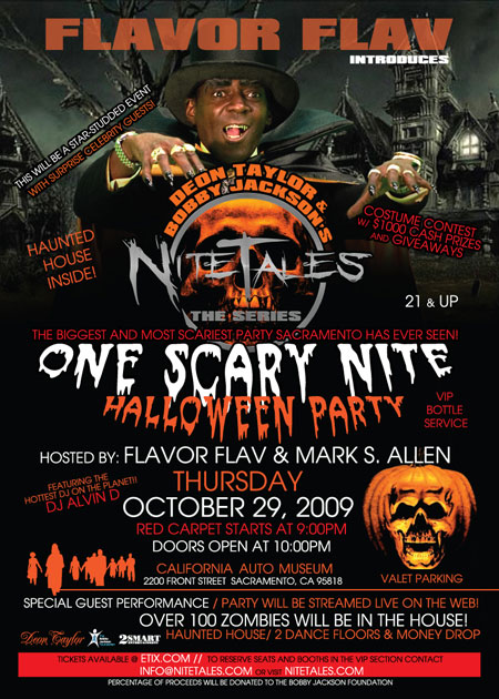 """""""One Scare Nite"""" Halloween Party in SacTown"""
