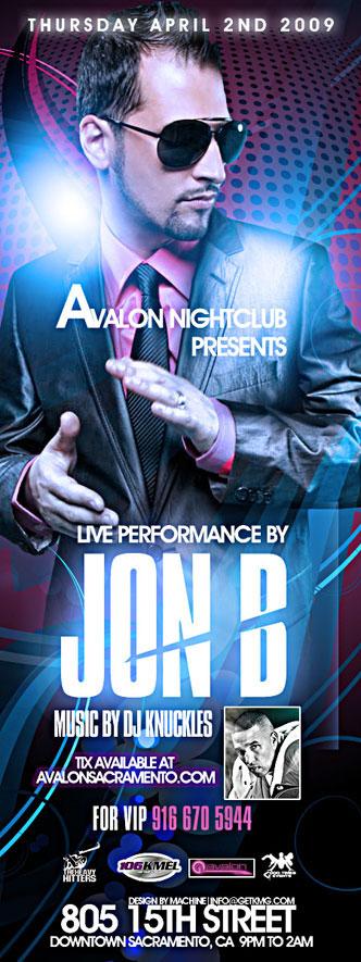 Jon B performs live at Avalon Night Club