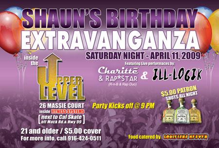 Shaun's Birthday Extravanganza