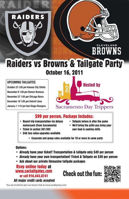 Raiders vs. Brown & Tailgate Party