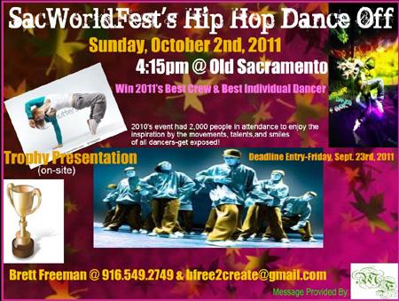 SacWorld Fest Hip Hop Dance Off