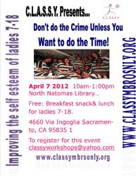 Youth Workshop: Crime Prevention Justice Workshop & Easter Egg Hunt