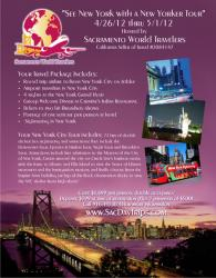 New York Tour hosted by Sacramento World Travelers