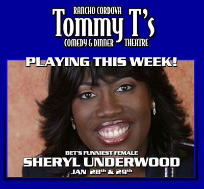 Sheryl Underwood performing live at Tommy T's