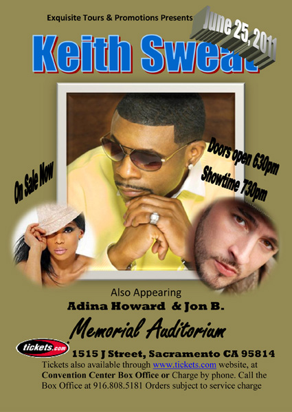 Keith Sweat live performing live in concert