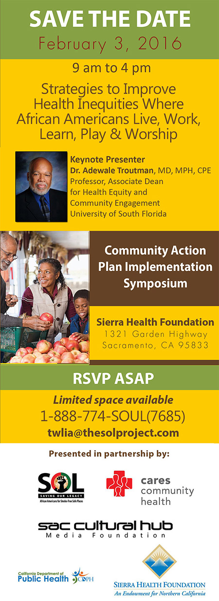 Community Action Plan Implementation Symposium