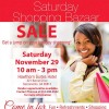 Saturday Shopping Bazaar - Get a jump on your holiday shopping!