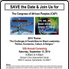 Save the Date and Join Us for The Congress of African Peoples (CAP)