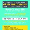 ENROLL BY November 15th and have health insurance coverage by December 1st