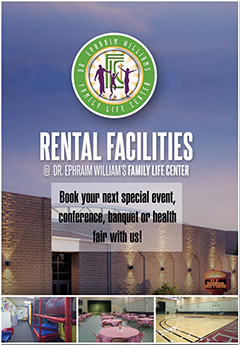 BOOK YOUR NEXT EVENT at the Dr. Ephraim Williams Family Center
