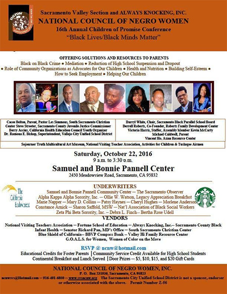 "16th Annual Children of Promise Conference ""Black Lives/Black Minds Matter"""