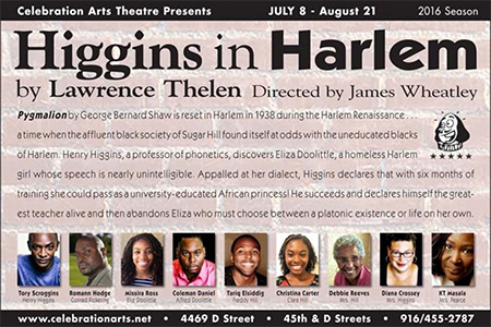 Higgins in Harlem theatre stage play