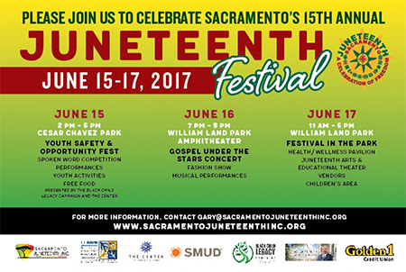 Annual Juneteenth Festival in Sacramento - June 15-17