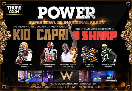 Super Bowl Party Weekend with Doug E Fresh, Too Short & Kid Capri