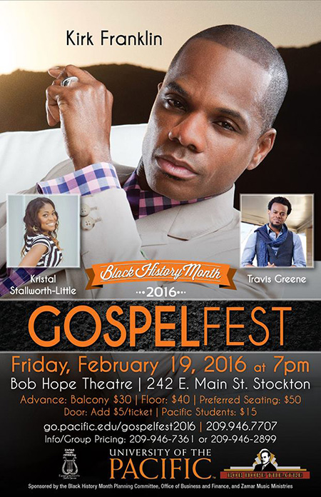 Kirk Franklin starring in the GospelFest presented by University of Pacific