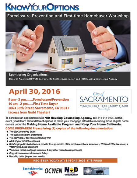 Foreclosure Prevention and First Time Homebuyer Workshop