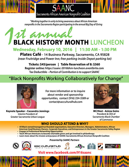 SAANC's 1st Annual Black History Month Luncheon