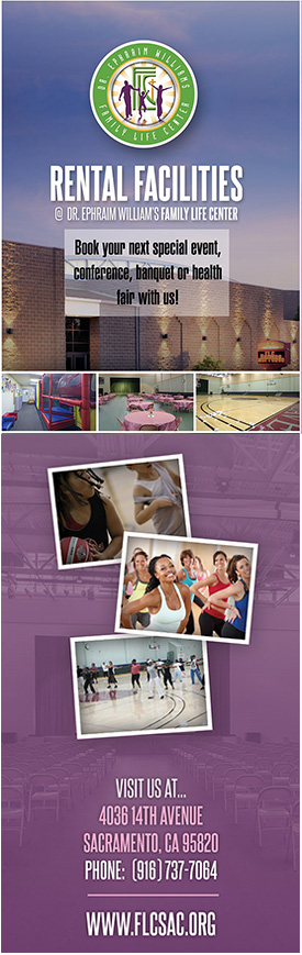 Book your next event at the Dr. Ephraim Williams Family Life Center