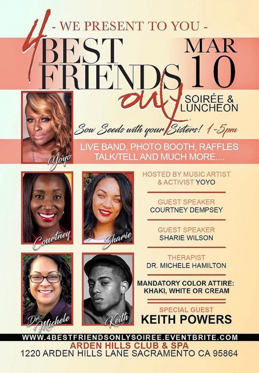 Sow Seeds with your Sisters at the 4 Best Friends Only Soiree & Luncheon - March 10