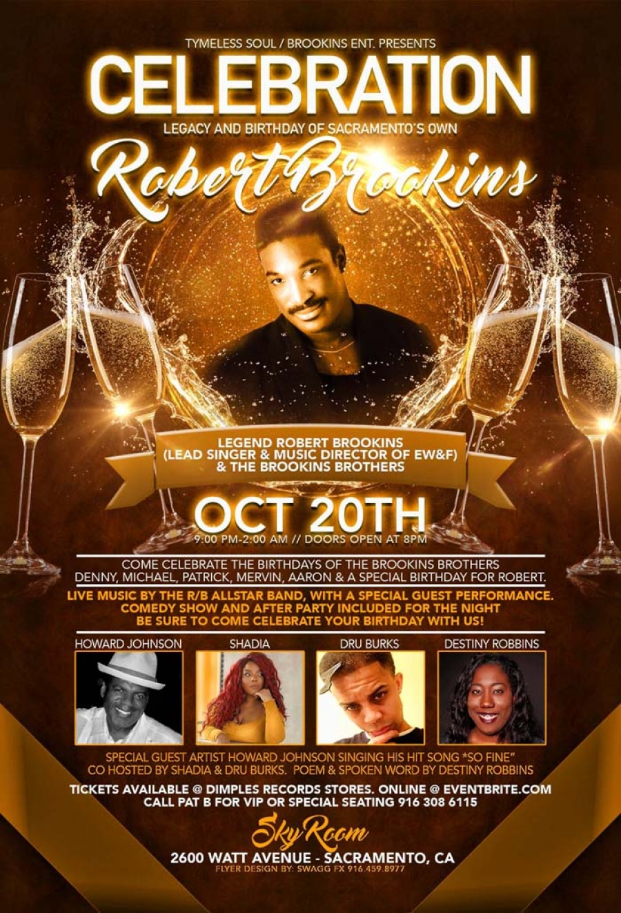 Oct 20th - Celebration Legacy & Birthday of Sacramento's Own Robert Brookins