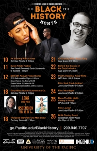 University of the Pacific Black History 2017 Calendar