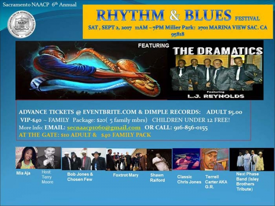 Don't miss the Rhythm & Blues Festival on Sat-9/2