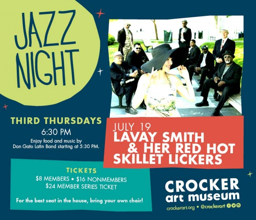 THIRD THURSDAYS JAZZ NIGHT at Crocker Art Museum Featuring Lavay Smith & Her Red Hot Skillet Lickers
