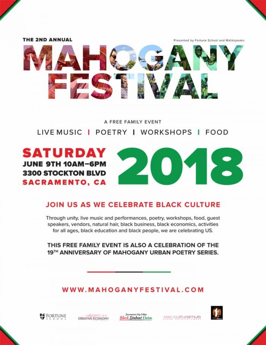 SAVE THE DATE! 2nd Annual Mahogany Festival - Sat-June 9th
