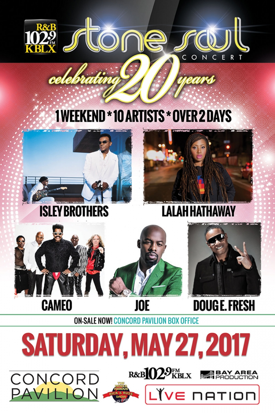 2017 Stone Soul Concert celebrating 20 years over 1 weekend with 10 artists