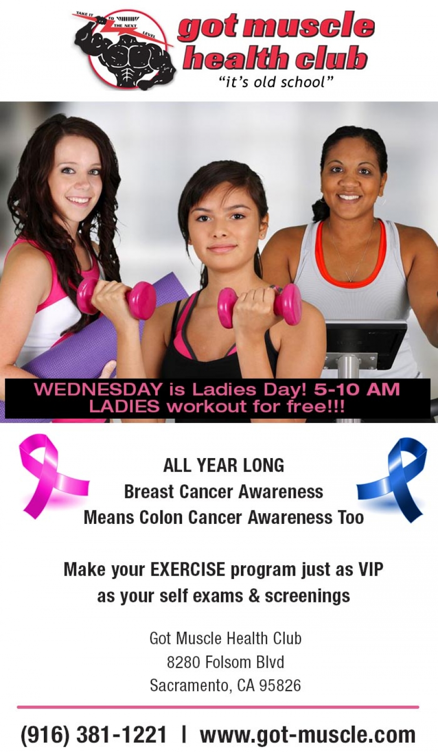 Wednesday is Ladies Day at Got Muscle Health Club in Sacramento