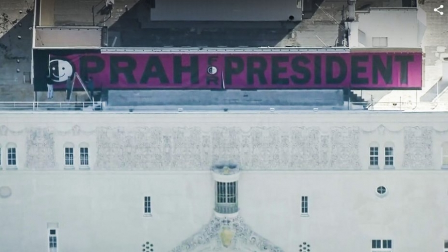 """Oprah for President"" Billboard Spotted in Downtown L.A."