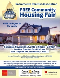 FREE Community Housing Fair presented by Sacramento Realtist Association