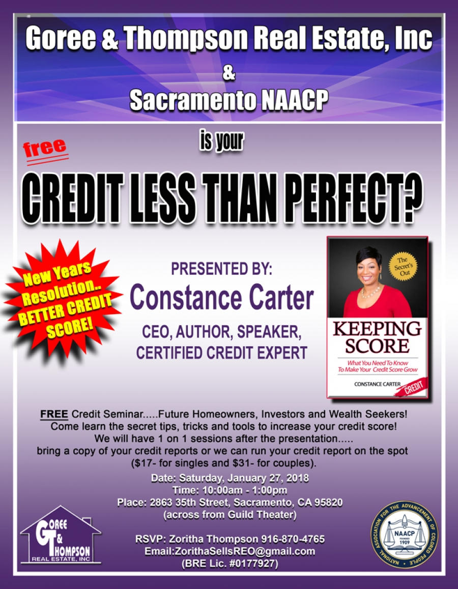 Is your Credit Less Than Perfect? Attend the FREE Credit Seminar