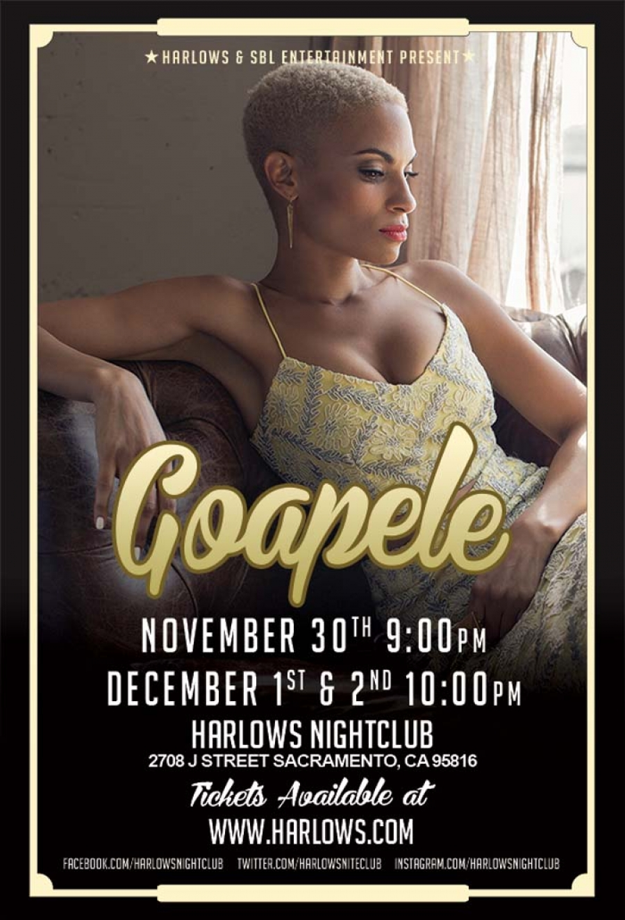 Will you be there? GOAPELE at Harlows on Nov 30 and Dec 1-2