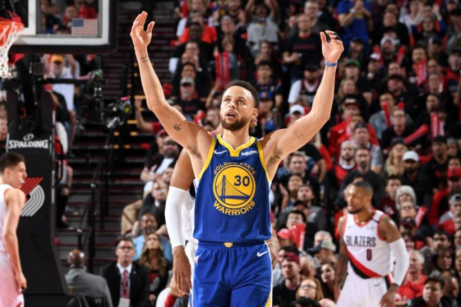 Steph Curry, Warriors on Brink of NBA Finals Berth After Game 3 Win vs. Blazers