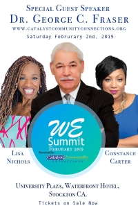 Don't miss the WE Summit with Lisa Nichols & Dr. George C. Fraser on Feb 2nd